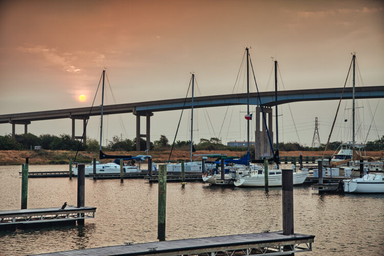 Fine art photography prints | Freeport Texas Marina Sunrise