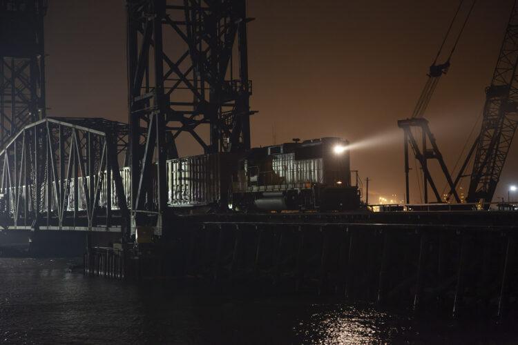 Fine art photography prints   Freeport Texas Night Train