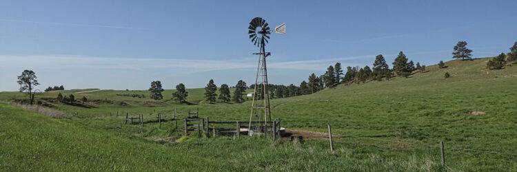 Fine art photography prints | Nebraska Sandhills Windmill Panoramic