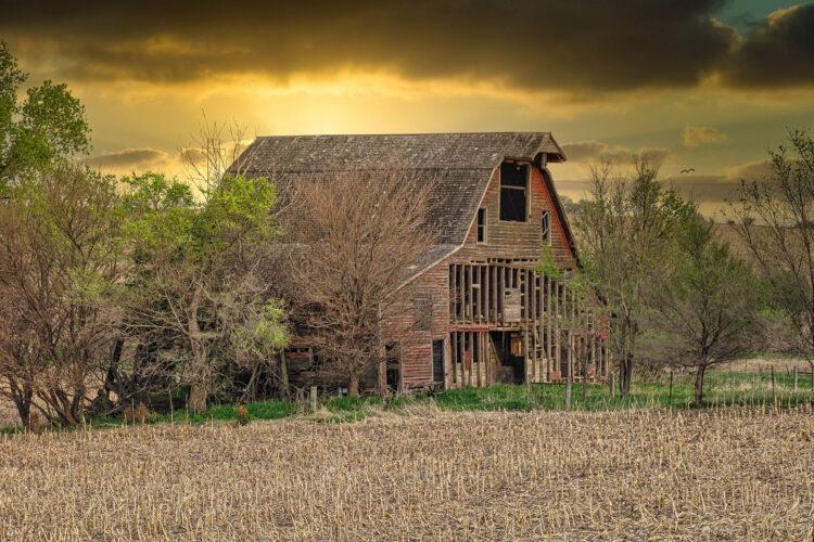 Fine art photography prints | Warm Sunrise at I-80 Barn