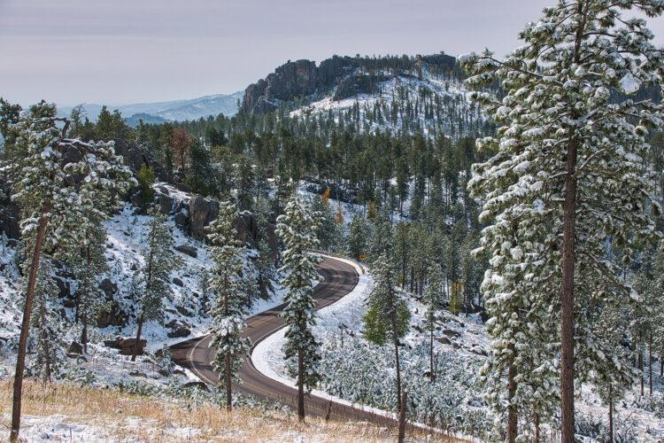Fine art photography prints | Black Hills Winter Road