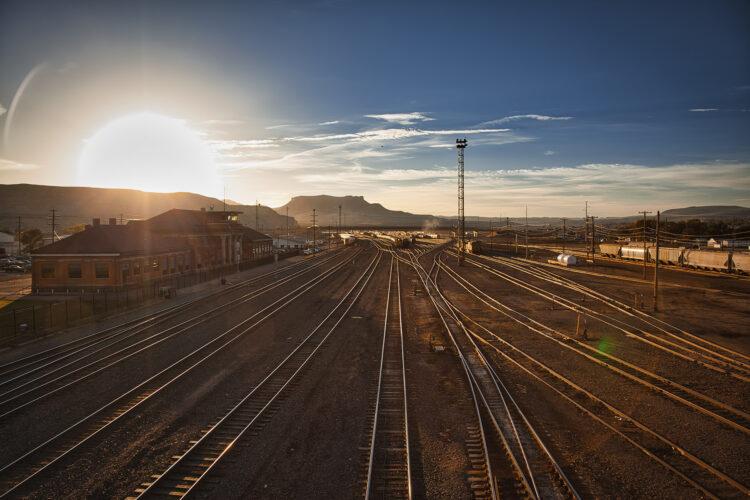 Fine art photography prints   Rail Depot Sunrise
